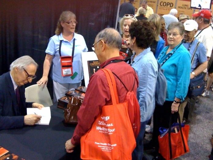 Kreskin book signing