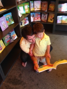 Story time at the Miami Book Fair in the Author Solutions book gallery